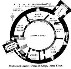The keep  Castles and Medieval castle on PinterestMedieval Castle Floor Plans   Floorplan for the Keep and first floor of Restormel Castle
