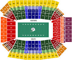 Colts Seating Chart Indianapolis Colts Tickets 57 Hotels Near Lucas Oil