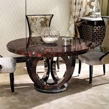 luxury macassar ebony steel dining table