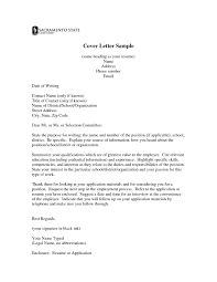 Typical Cover Letter Format Image Collections Letter Samples Format