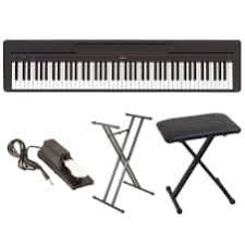 yamaha 88 key digital piano. yamaha p45b 88-key digital piano in black with x-style bench, stand 88 key