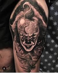татуировки с клоуном пеннивайзом из фильма оно тату салон юрец