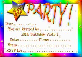 th birthday party invitation templates freeth free template index of stunning 18th birthday party invitation templates