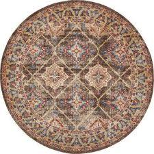 utopia dark brown 8 ft x 8 ft round area rug