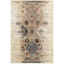 oriental weavers empire 028w4 ivory blue area rug