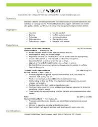 resume for customer service job simple customer service representative resume example livecareer
