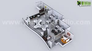 modern office floor plans. Creative Modern 3D Office Floor Plan Rendering Ideas - New York Plans E