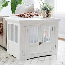 furniture pet crate. Image Is Loading Indoor-Dog-Crate-Double-2-Door-End-Table- Furniture Pet Crate