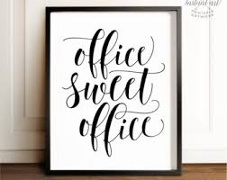 home office wall decor. office sweet printable artoffice wall decorhome decorcalligraphy print home decor