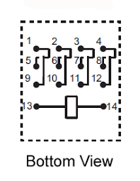 gr220pin4p 4pdt 220vac 5a 14 pin terminals relay technical data gr220pin4p 4pdt 220vac 5a 14 pin terminals relay circuit diagram