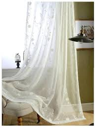 sheer ivory curtains ready made white cotton embroidered sheer curtains for living room voile tulle curtain