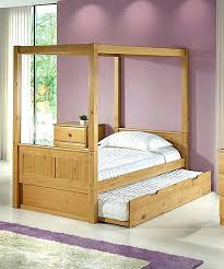Twin Wood Canopy Bed Wooden Canopy Bed Frame Queen Size For Sale ...