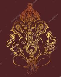 татуировка ганеша индуистского бога ганеша богато украшенные