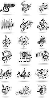 Notes Music Staff And Treble Clef Vector Vector Graphics Vector