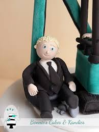 scooped' off his feet by this custom made digger wedding cake Wedding Cake Toppers Brisbane Queensland edible bride and groom icing cake toppers Romantic Wedding Cake Toppers