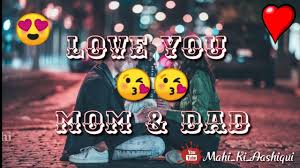 Mom And Dad Status In Hindi I Love My Mom And Dad Quotes Mom And Dad Status Edit By Mahi
