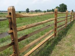 wooden farm fence. Cemetery Ridge Fence Finished Wooden Farm