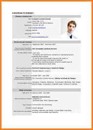 Resume Examples Sample Curriculum Vitae For Job Application Pdf