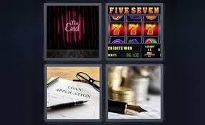 4 pics 1 word loan application the end jackpot slot machine five seven 777 pen