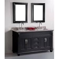 black bathroom vanity with sink. design element dec059c hudson 60\ black bathroom vanity with sink