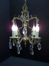 crystal and brass chandelier vintage petite brass crystal chandelier small four light crystal libra round crystal