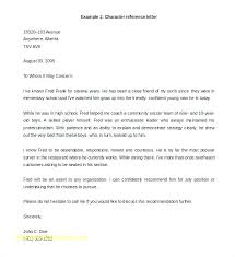 Job Recommendation Letter Sample For A Friend Character Recommendation Letter For Job Lapos Co