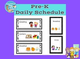 Back To School Pre K Picture Schedule