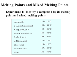 Melting Points And Mixed Melting Points Ppt Video Online