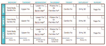 Which Home Workout 21 Day Fix Workout Calendar - Which Home Workout?