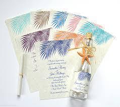 Beach Invitation Palm Leaves Beach Bottle Wedding Invitations