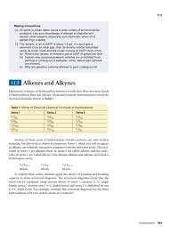 Alkanes Alkenes Alkynes Chart 11 5 Alkenes And Alkynes Pp 543 556
