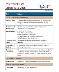 Program Of Events Sample 9 Program Agenda Examples Samples Examples