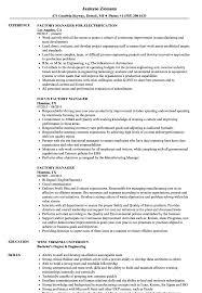 Factory Resume Examples Proyectoportal Com