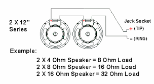 impedance speaker cabinet wiring 300guitars com if multiples of identical speakers are used in a combo or cabinet the overall power rating is calculated by multiplying the individual speaker rating by
