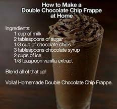 double chocolate chip frappe one of the skinnier drinks it s about 130 calories when made with skim milk they make it this way at starbucks