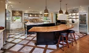 modern curved kitchen island. Simple Island Curved Kitchen Island With Wooden Design Also Have Wood Counter Intended  For Plans 4 On Modern