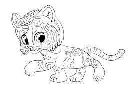 Shimmer And Shine Coloring Pages Free Coloring Pages For Kids