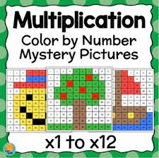 Click on the appropriate free color by number page file new window will open with your selected coloring by number sheet file Multiplication Coloring Worksheet Teachers Pay Teachers