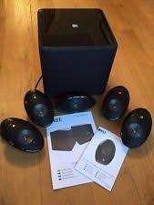 kef kube 1. kef kube-1 subwoofer speaker with 5 x surround sound speakers kube 1