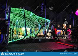 Arts Outdoor Lighting Technology An Annual Outdoor Lighting Festival With Green Tunnel