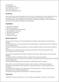 Resume Templates: Architectural Assistant