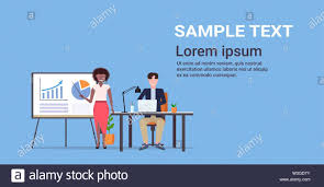 Flip Chart Presentation Sample Businesswoman Presenting Financial Graph On Flip Chart To