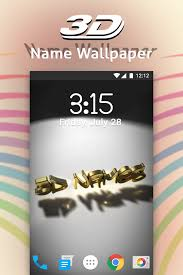 3d my name live wallpaper photo editor solution 0