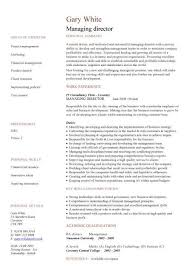 Managing Director Cv Sample, Managerial Cvs, Curriculum Vitae ...