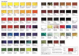 Art Spectrum Colour Chart Vallejo Artist Acrylic Hand Painted Colour Chart