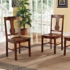 huntsman dark oak wood dining chair set of 2