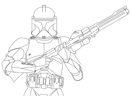 Small Picture Clone Trooper Coloring Pages Bebo Pandco