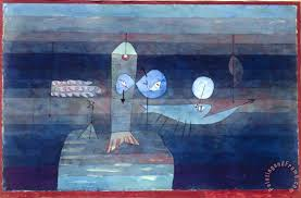 good place for fish 1922 painting paul klee good place for fish 1922 art print