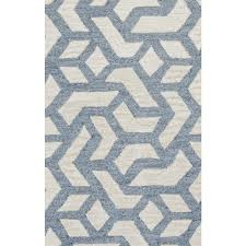rizzy home caterine blue geometric 9 ft x 12 ft area rug