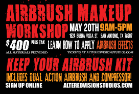 airbrushing is an essential technique for professional special effects artists who want to create delicate blends of color on a character and bringing their